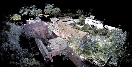 drone laser scan for architecture, construction and preservation by southwest scanning, New Mexico.
