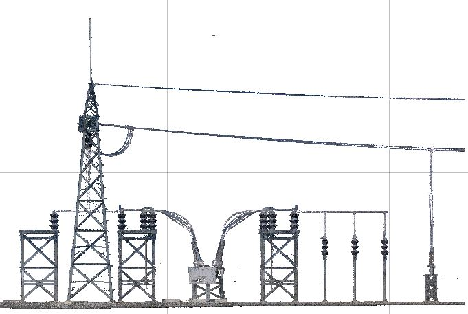 Laser scan of a power company by southwest scanning, in New Mexico.